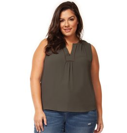 Dex Olivia Split Neck Top