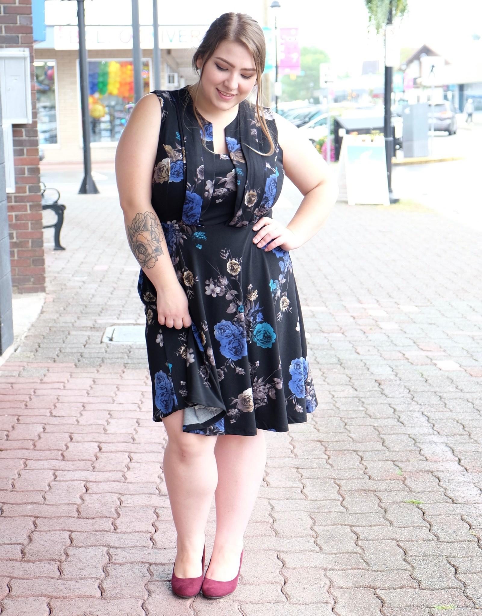 Dex Electric Roses Dress