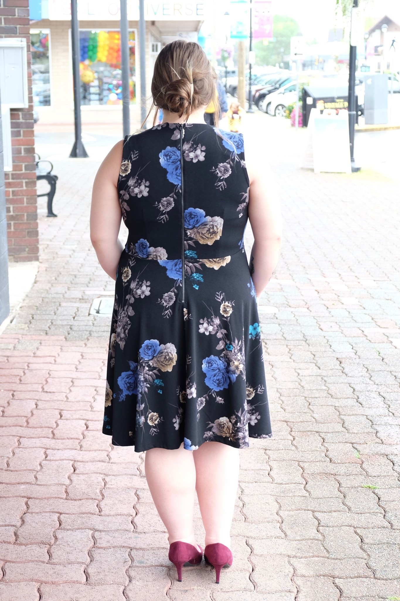 Dex Electric Roses Dress