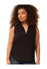Dex Pleated V Neck Top