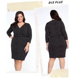 Dex Printed Crossover Dress