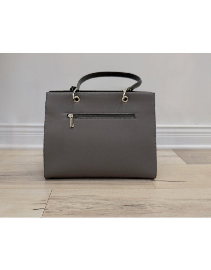 Holiday Group Satchel Handbag Grey