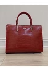 Holiday Group Satchel Handbag Red