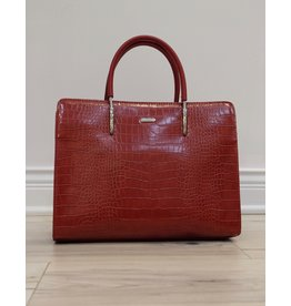 Holiday Group Satchel Handbag Red