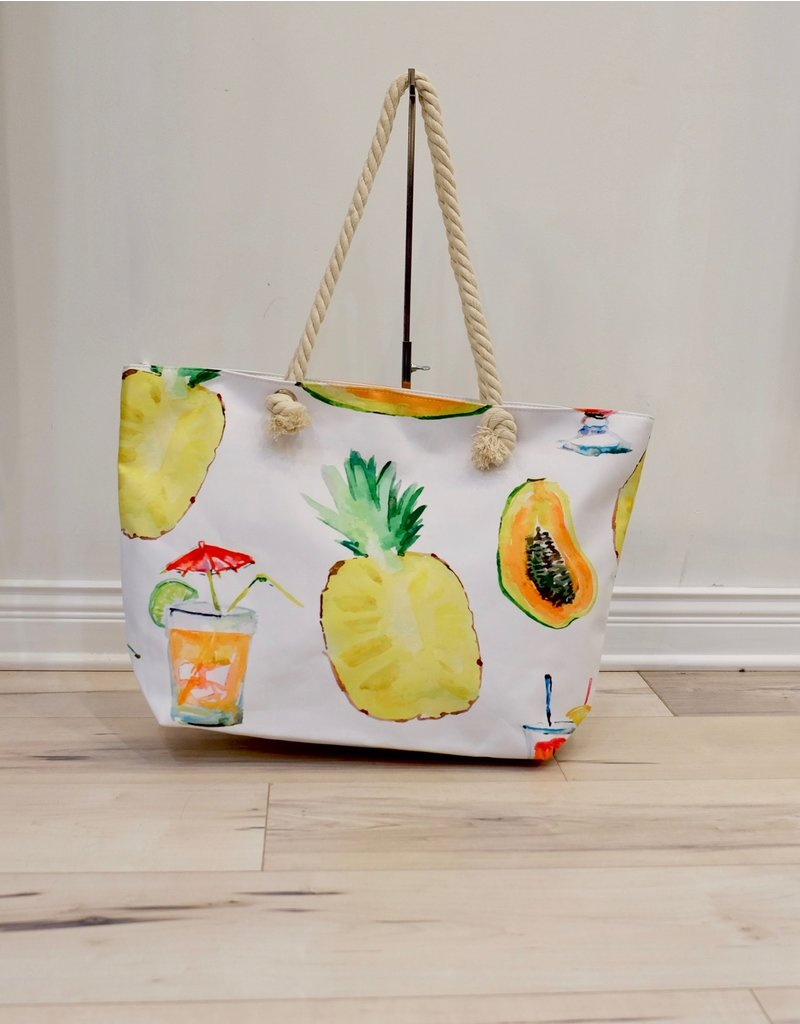 Fashion Island Summer Fruit Beach Bag