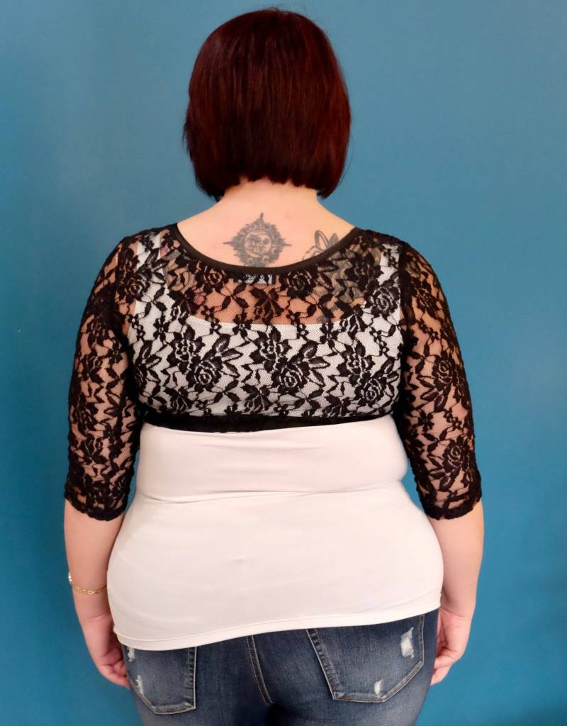 Papa Fashions Lace Sleevelette