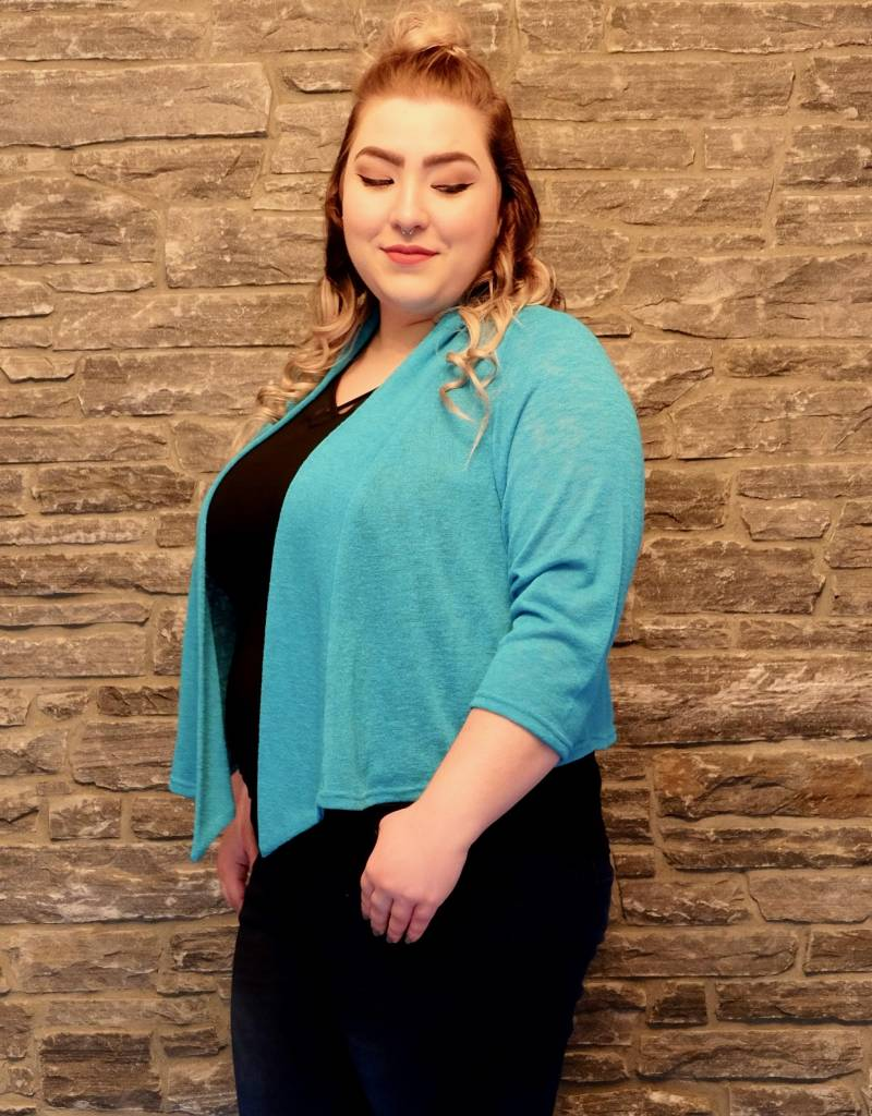 Pretty Women Turquoise Sweater Bolero