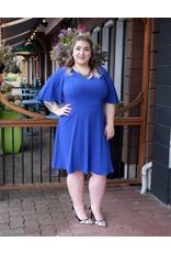 London Times Flutter Sleeve Dress