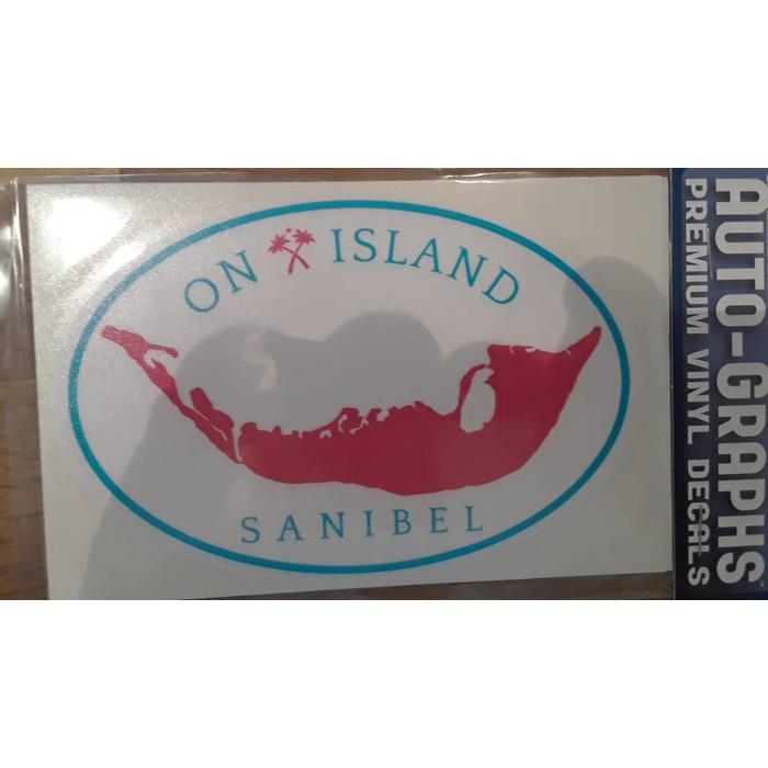 Oval On Island Map Auto Decal