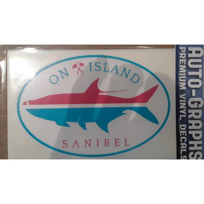 Oval On Island Fish Auto Decal