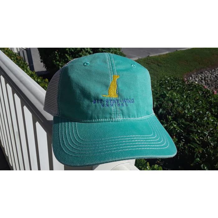 Sit Stay Wag Trucker Hat in Mint