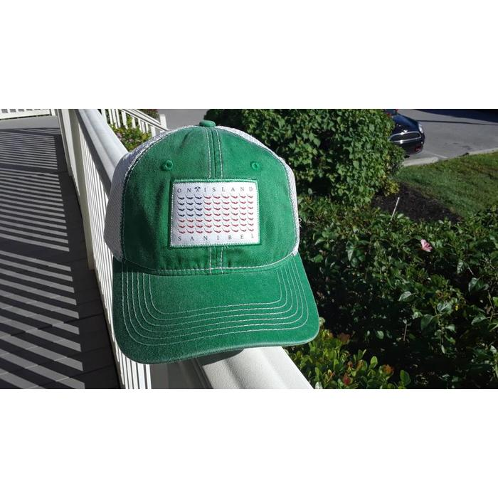 Hat Trucker Map Flag Green