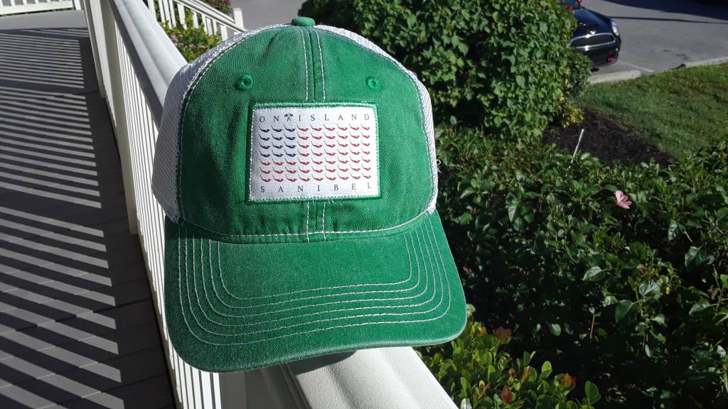 b93331040fc Map Flag Trucker Hat Green - On Island