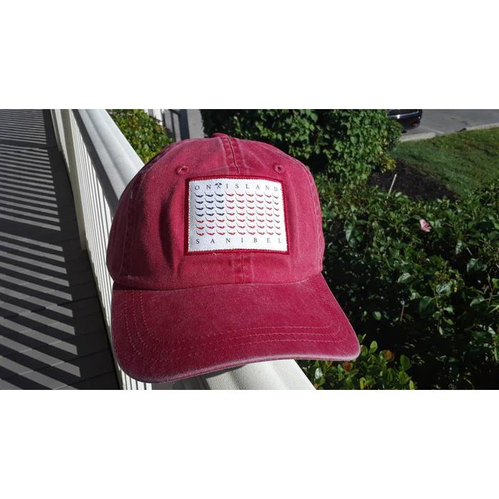 Map Flag Hat Red