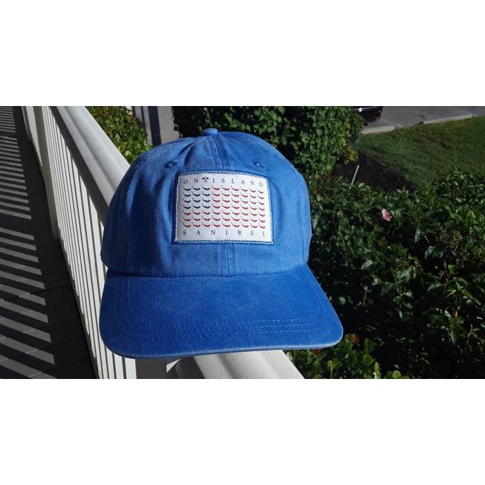 Map Flag Hat Light Blue