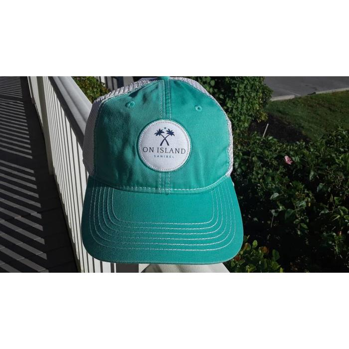 mint logo patch trucker hat