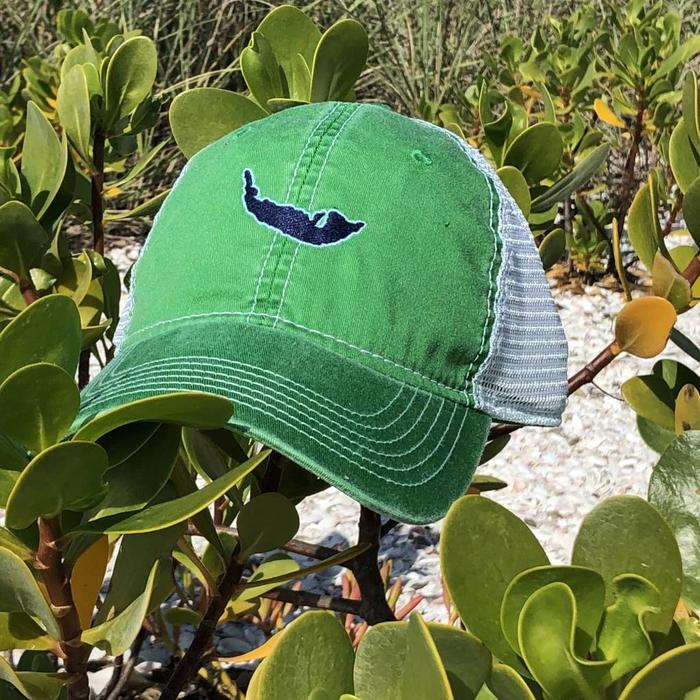 Green Map Trucker Hat