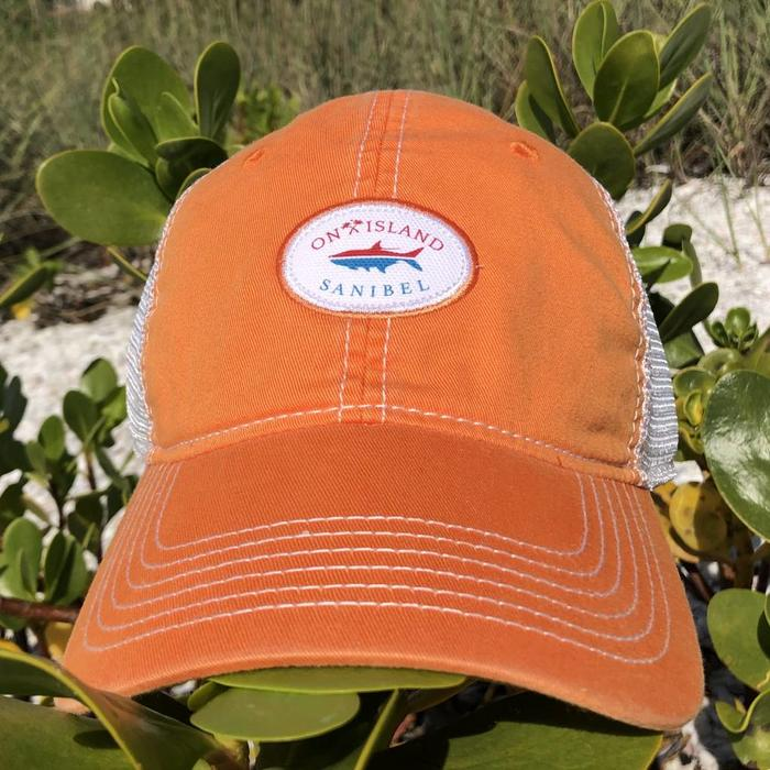 Logo Fish Trucker Hat Orange
