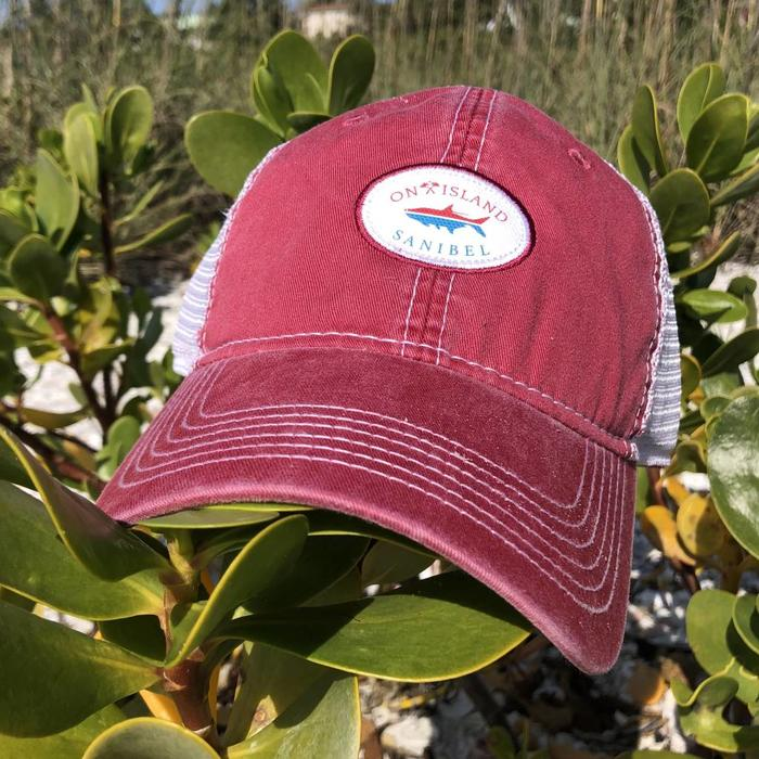 Hat Trucker Fish Red