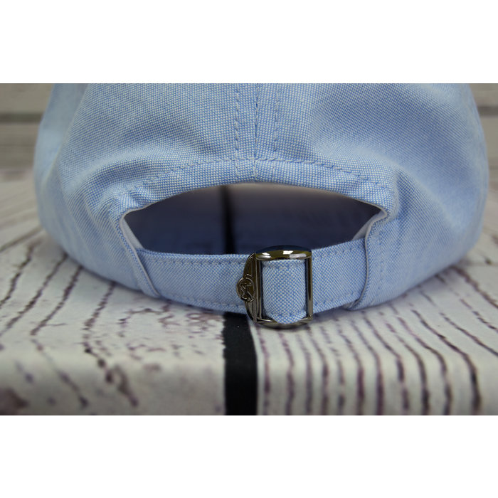 On Island Hat in Blue Oxford