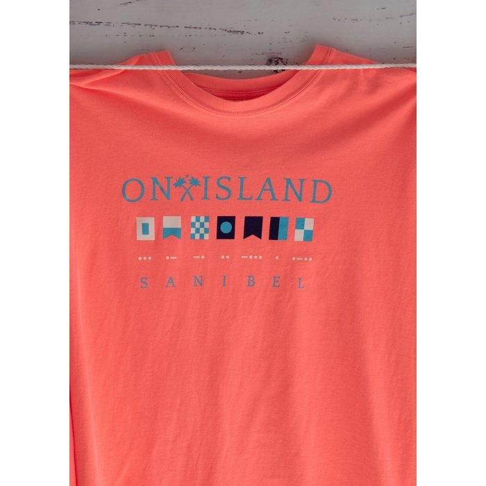 ON SALE!! Sanibel in Nautical Flags and Morse Code - Long Sleeve