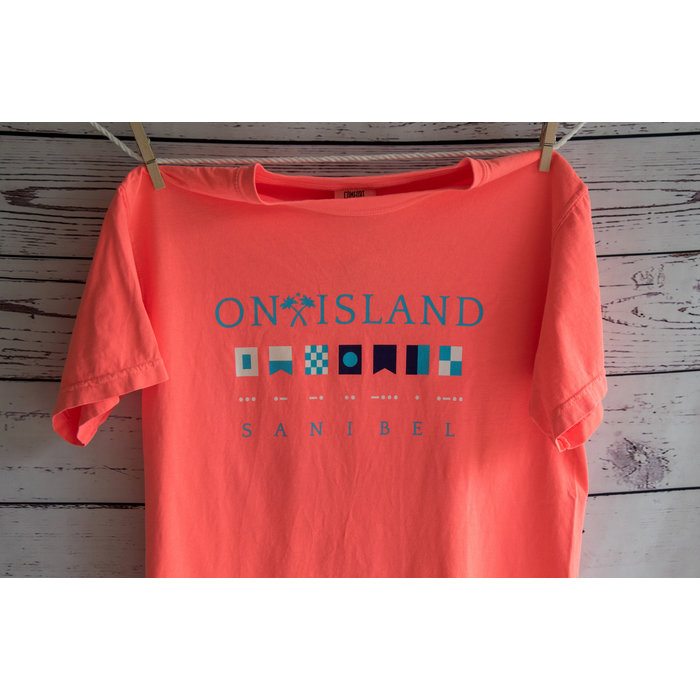 Sanibel in Nautical Flags and Morse Code - Short Sleeve
