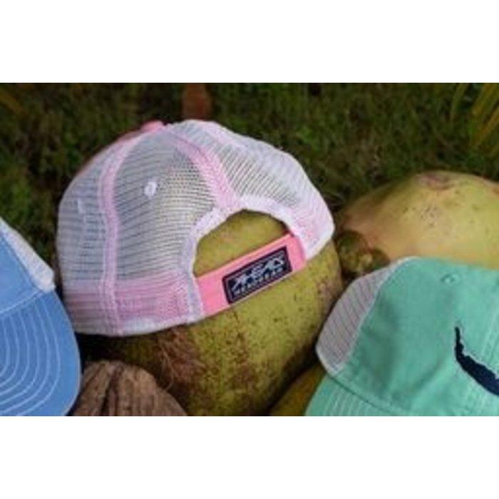 Map Trucker Hat in Pink