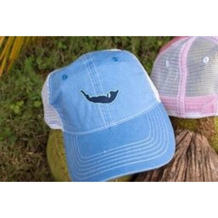Map Trucker Hat in Blue