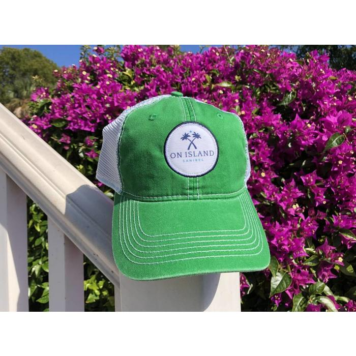Green Logo Patch Trucker Hat