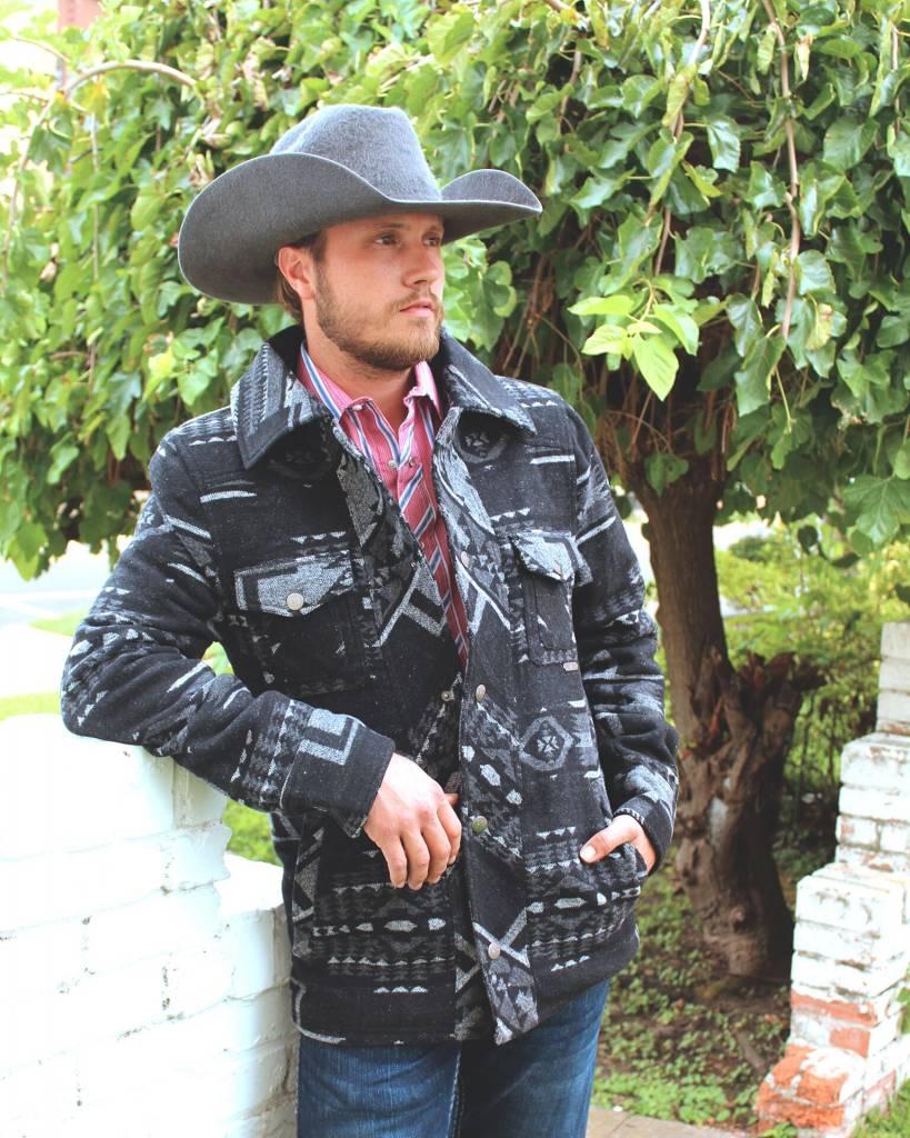Panhandle Slim Pecos Jacquered Wool Coat
