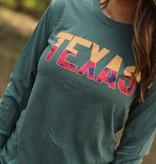 Texas Plaid Long Sleeve Tee