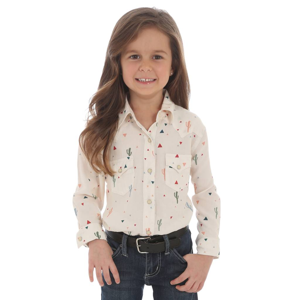 Wrangler Little Girls Cactus Arena Shirt