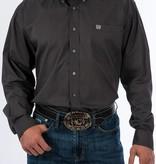 Cinch Pixel Grey Print Long Sleeve Shirt