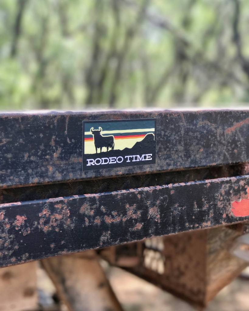 Dale Brisby Sunset Rodeo Time Decal