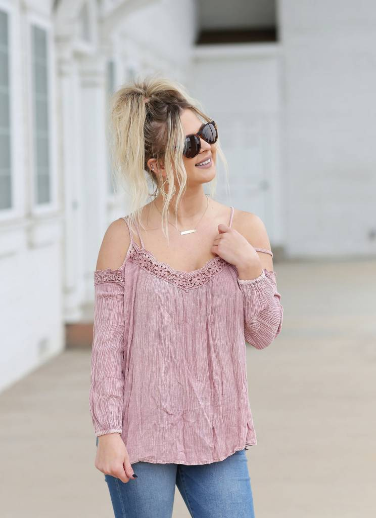 Diamond T Outfitters Karina Cold Shoulder Top