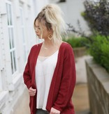 Diamond T Outfitters Deep Red Dolman Cardigan