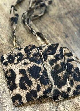 klutch handbags Koin wallet leopard
