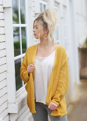Diamond T Outfitters Sweet Honey Dolman Cardigan