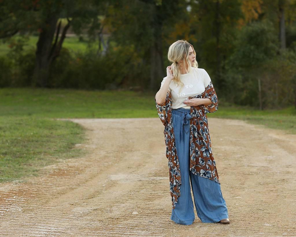 Diamond T Outfitters The Blues Long Kimono