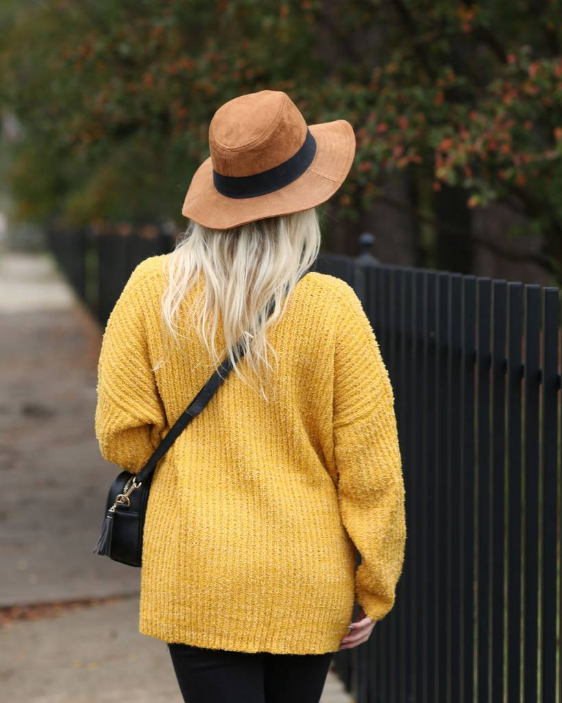 Diamond T Outfitters Mustard Terry Oversized Sweater