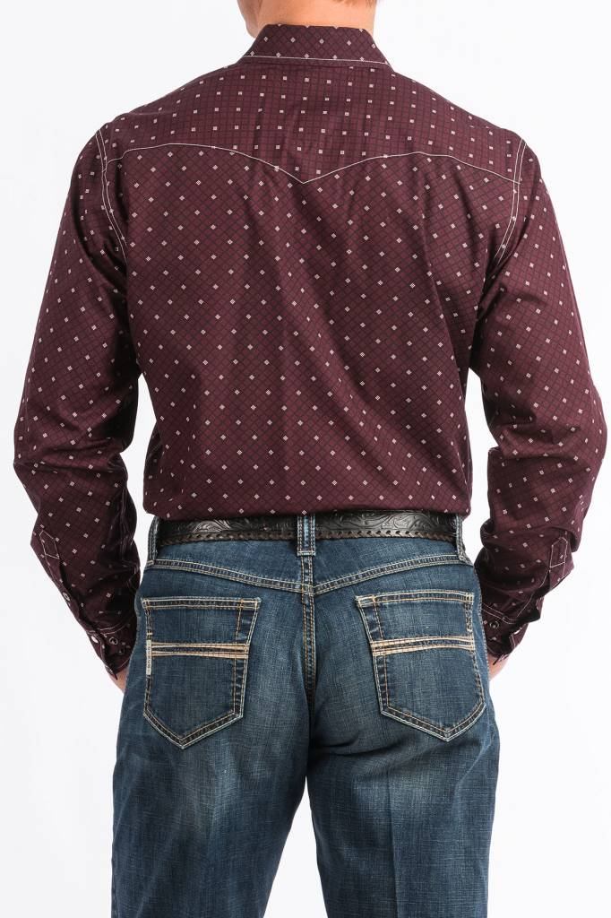 Cinch Cinch Modern Fit Burgundy Pearl Snap