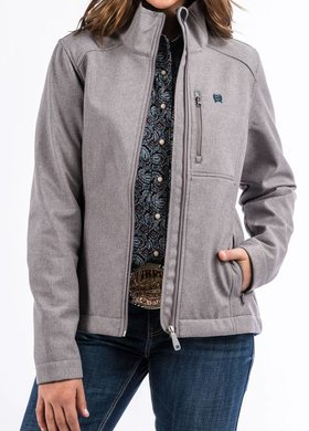 Cinch Cinch Ladies Heather Gray Bonded Jacket