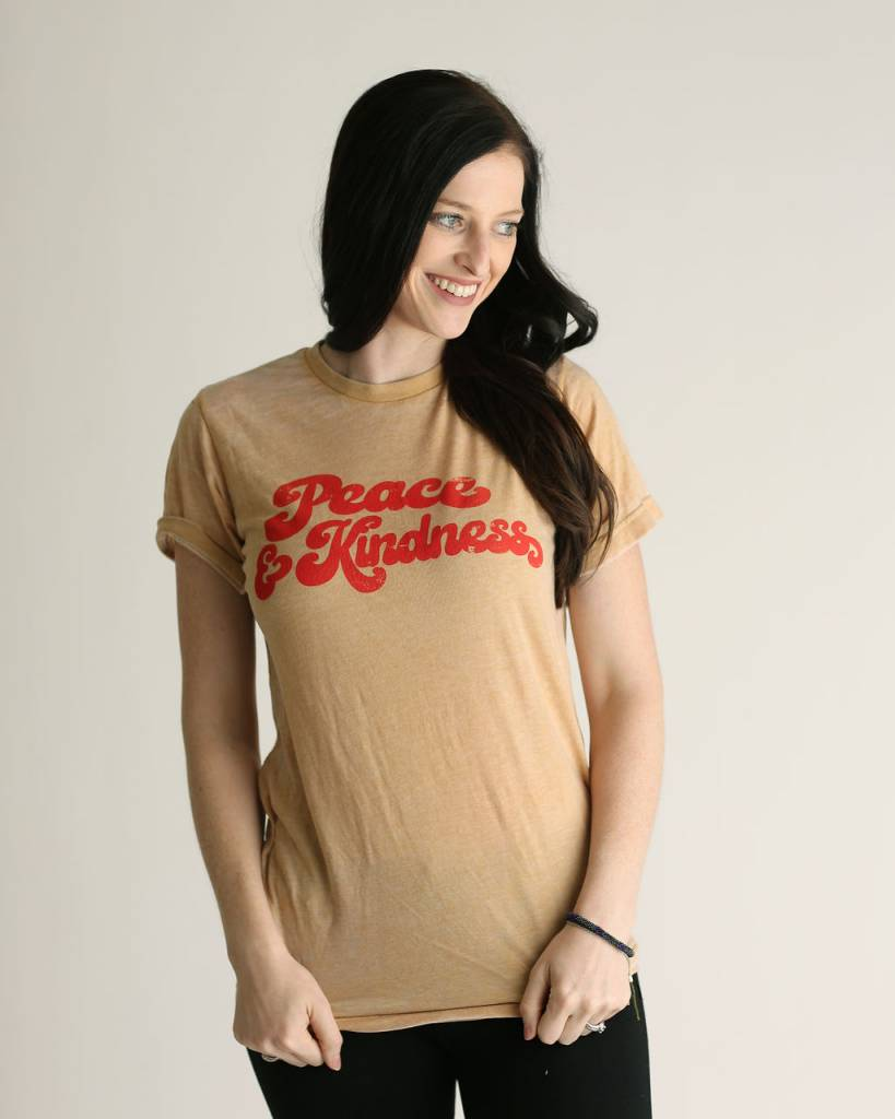 CRAZYCOOL THREADS Peace & Kindness Tee