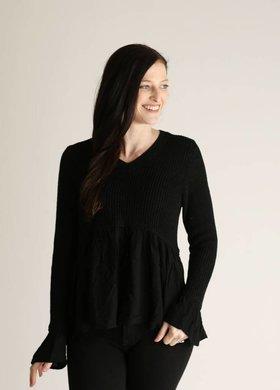 Diamond T Outfitters Vesta Knit Peplum Sweater