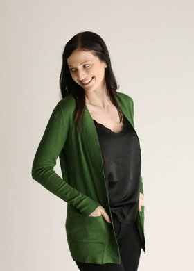 Diamond T Outfitters Bright Olive Cardigan