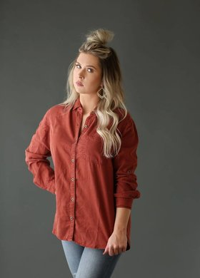 Sneak Peek Rusty Button Up