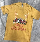 Diamond T Outfitters Floral Christmas Tee