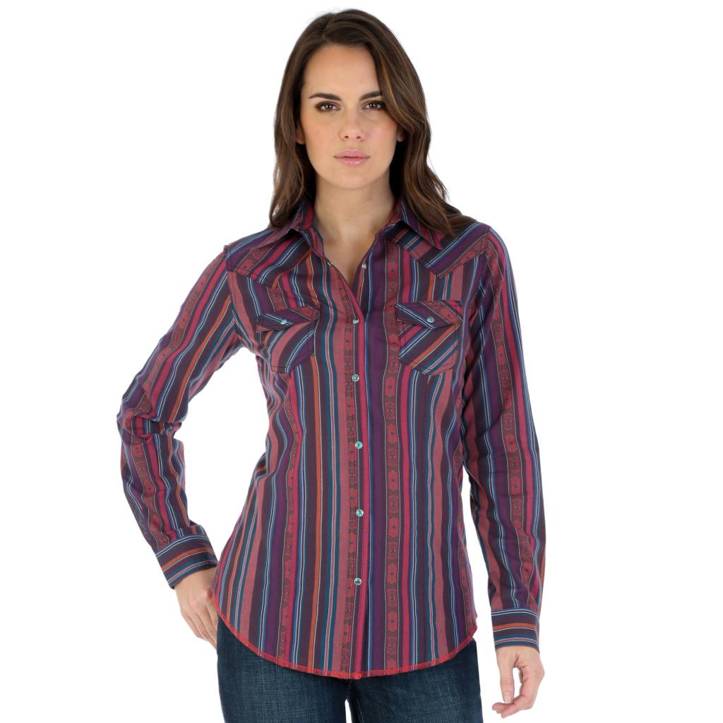 Wrangler Ladies Old West Pearl Snap