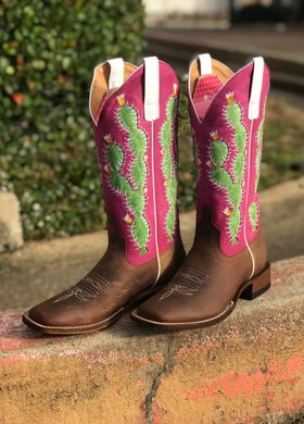Anderson Bean Macie Bean Prickled Pink Buffalo Boot