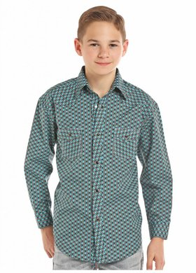 Panhandle Slim Rock & Roll Youth Aztec Stripe Shirt